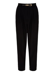 Yumi Pleated Trousers Black