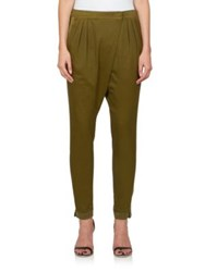 Givenchy Cross Front Harem Pants Military Green