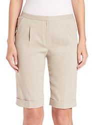 Elie Tahari City Shorts Sand