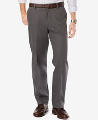 Dockers Men's Signature Relaxed Fit Khaki Flat Front Stretch Pants Steelhead