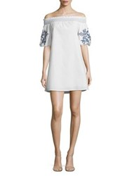 Beach Lunch Lounge Off The Shoulder Cotton Shift Dress Tusk