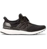 Adidas Sport Ultra Boost Rubber Trimmed Primeknit Running Sneakers Black