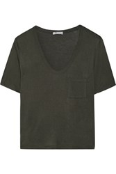 Alexander Wang T By Jersey T Shirt Army Green
