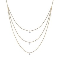 The Alkemistry 18Ct Yellow Gold Triple Chain Drilled Diamond Necklace