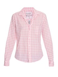 Frank And Eileen Barry Gingham Check Cotton Shirt Pink White