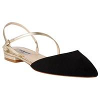 Lk Bennett L.K. Cari Pointed Toe Slingback Pumps Black Gold