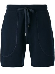 Andrea Pompilio Knitted Drawstring Shorts Blue
