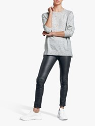 Hush Cashmere Boyfriend Jumper Grey