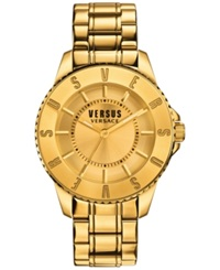 Versus By Versace Men's Gold Tone Ion Plated Stainless Steel Bracelet Watch 42Mm Sgm220015