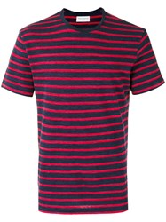 Officine Generale Striped T Shirt Blue