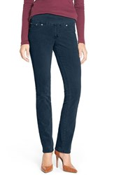 Petite Women's Jag Jeans 'Peri' Pull On Stretch Corduroy Pants Blue Suede