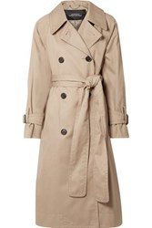 Marc Jacobs Oversized Cotton Twill Trench Coat Beige
