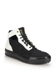 Android Delta Mid Top Sneakers Black White