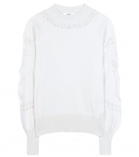 Barrie Cashmere Sweater White