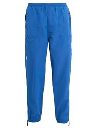 Pam Apollo Logo Embroidered Track Pants Blue