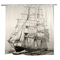 Thomas Paul Ship Flax Shower Curtain Multicolor