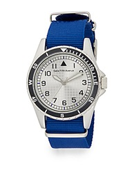 Saks Fifth Avenue Quartz Mixed Media Round Watch White Blue