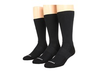 Wrightsock Dl Fuel Crew 3 Pack Black Crew Cut Socks Shoes