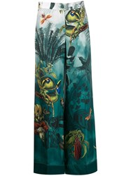 F.R.S For Restless Sleepers Paradise Printed Silk Trousers 60