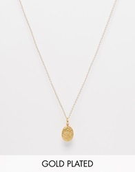 Mirabelle Solid Locket Pendant Necklace On Gold Plated Chain