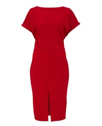 Maiocci Collection Fitted Dress Red