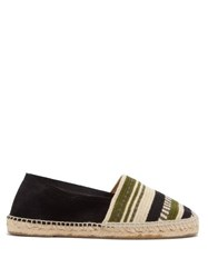 Guanabana Striped Woven Canvas And Suede Espadrilles Multi