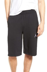 Nike Men's Jordan Flight Lite Sweat Shorts Black White