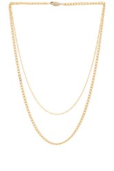 Paradigm Brooklyn Double Chain Necklace Metallic Gold