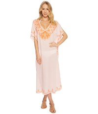 Echo Design Embroidered Maxi Caftan Rose Pink Clothing