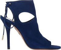 Aquazzura Sexy Thing Booties Blue