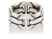 Hoorsenbuhs Quad Wall Ring Silver