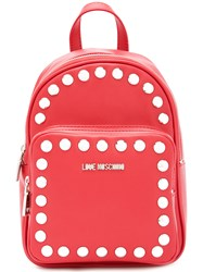 Love Moschino Studded Mini Backpack Women Polyurethane One Size Red