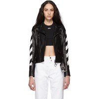 Off White Black Diag Biker Jacket