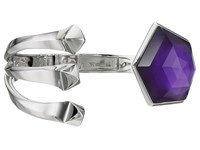 Stephen Webster Superstud Crystal Haze Bangle Pale Amethyst White Mother Of Pearl Clear Quartz Bracelet Purple