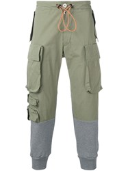 Unravel Project Slim Cargo Trousers Green