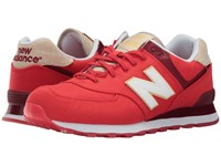 New Balance Ml574 Retro Surf Chinese Red White Men's Shoes