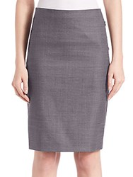 Elie Tahari Tulia Textured Pencil Skirt Iron Multicolor