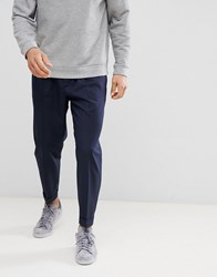 United Colors Of Benetton Smart Trousers With Drawstring Navy