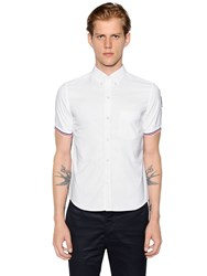 Moncler Gamme Bleu Cotton Oxford Short Sleeve Shirt