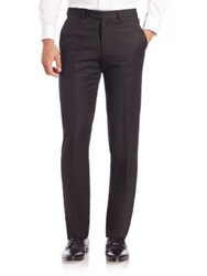 Armani Collezioni Speckled Pleated Dress Pants Black