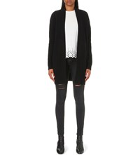The Kooples Open Front Cashmere Cardigan Black