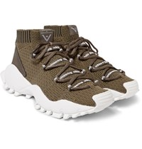 Adidas Originals White Mountaineering Seeulater Primeknit Sneakers Army Green
