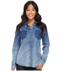 Blank Nyc Denim Shirt In Float On Blue Women's Clothing