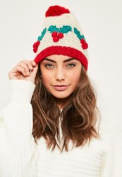 Missguided Christmas Holly Hat Multi