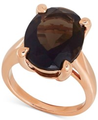 Macy's Smoky Quartz Statement Ring 9 1 2 Ct. T.W. In 14K Rose Gold