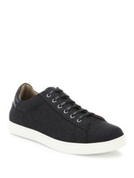 Gianvito Rossi Low Top Lace Up Sneakers Anthracite