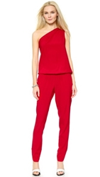 Ramy Brook Lulu One Shoulder Jumpsuit Siren Red