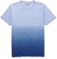 Hartford Slim Fit Degrade Cotton Jersey T Shirt Blue
