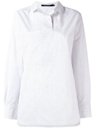 Sofie D'hoore Striped Panel Shirt White