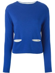Cacharel Front Pocket Sweater Blue